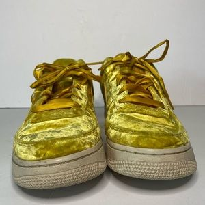 Other - Nike Air Force ones in yellow crushed velvet